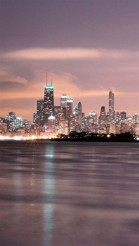city sea skyline android wallpaper