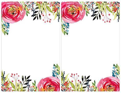 Floral Invitation Template {free printable Free