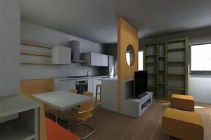 arredare soggiorno con cucina a vista With soggiorni con cucine a vista