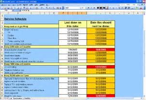 Auto Maintenance Schedule Spreadsheet by Car Maintenance Schedule Spreadsheet Http Lonewolf