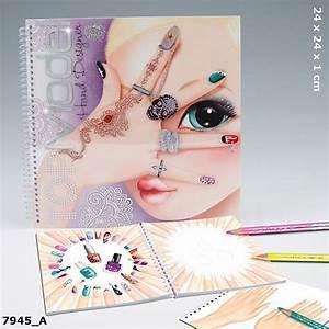 TopModel Hand Designer Malbuch Nageldesign Sticker