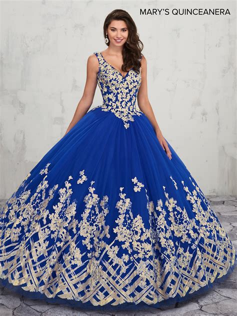 Lareina Quinceanera Dresses   Style - MQ2018 in Royal/Gold ...