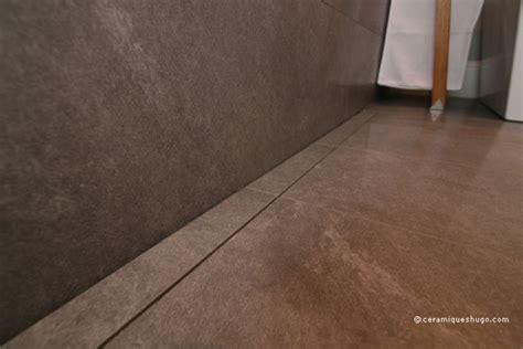 modern style bathroom with linear drain modern