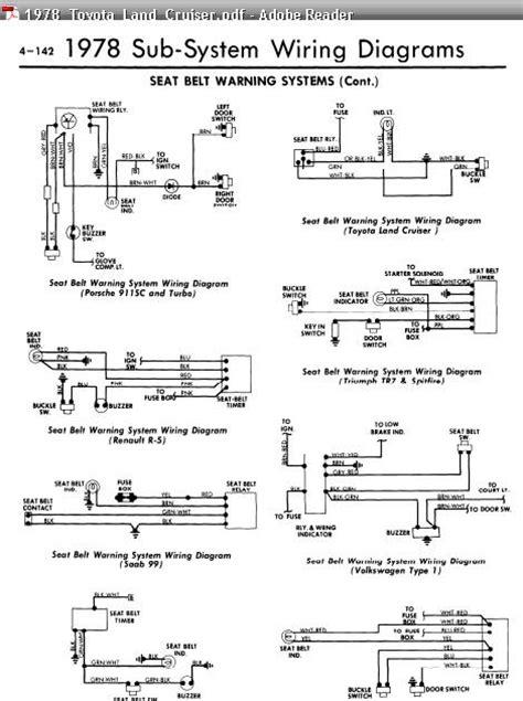 repair manuals  models  seat belt warning wiring