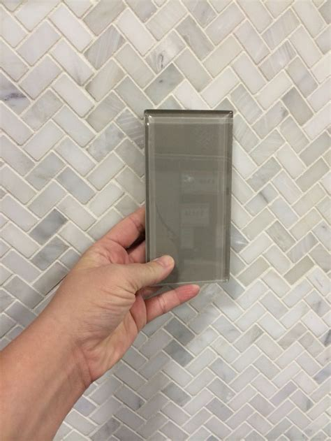 Pure Wool Shiny Glass tile ($3.99) for the shower wall