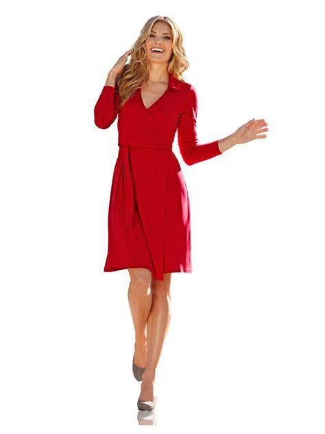 pure nature  heine wickelkleid rot kleider im mode
