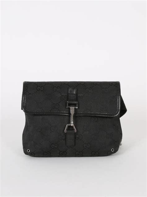 gucci gg canvas black belt bag luxury bags