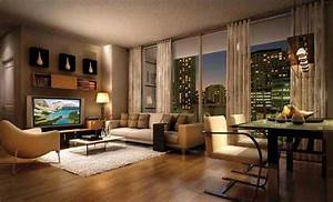 Elegant ideas for apartment decor with modern design for Apartment living room decorating ideas pictures