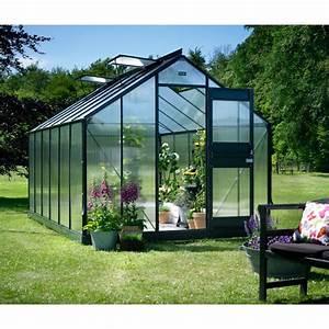 Serre De Jardin Polycarbonate : promo serre de jardin 12 1m anthracite en polycarbonate ~ Dailycaller-alerts.com Idées de Décoration
