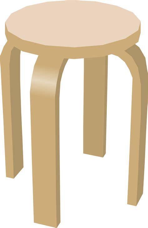 2 Legged Chair by Clipart Stool