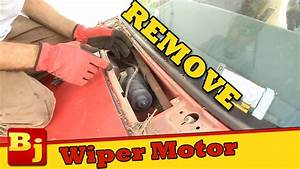 How To Remove A Windshield Wiper Motor