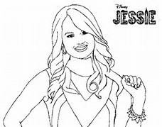 HD Wallpapers Disney Channel Jessie Coloring Pages