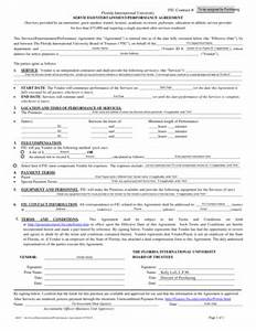 performer contract template 7 printable sample contract agreement for services
