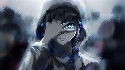 Anime Boys Fantasy Manga Headphones Computer Darkness