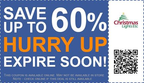 Up To 60 Off Christmas Lights Etc Coupon Promo Code For
