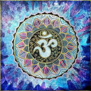 Om Mandala Painting by Agnieszka Szalabska