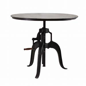 Adjustable Height Crank Dining Table 36quot Zin Home