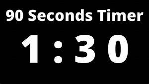 1, Minute, 30, Seconds, Timer, No, Beeps