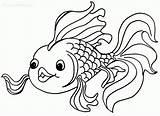 Coloring Goldfish Popular Printable sketch template