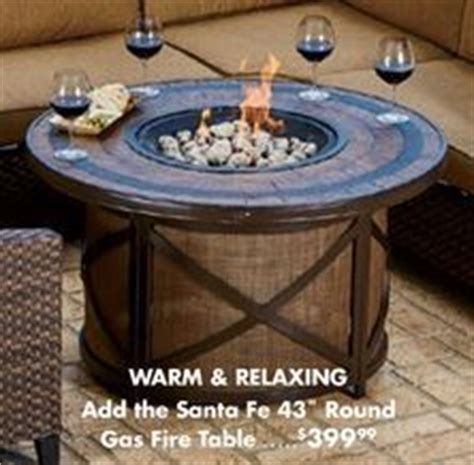 santa fe pit wilson fisher 174 43 quot santa fe round gas fire pit with concrete stone table from big lots 399 99