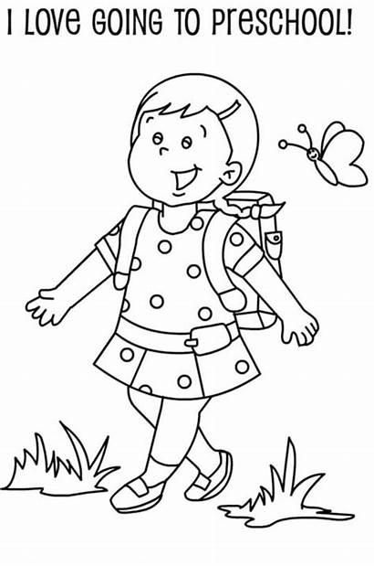 Coloring Pages Preschool Kindergarten Student Students Preschoolers