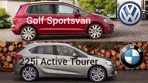 volkswagen golf sportsvan  bmw  active tourer