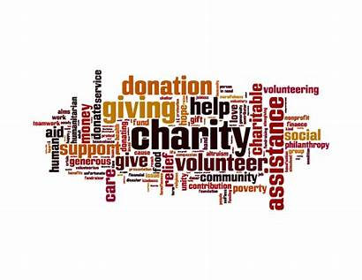 Charity Donate Words Groups Companies Donation Volunteer