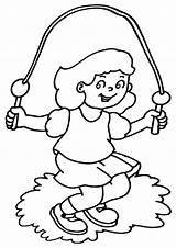 Coloring Rope Jump Pages Coloringway sketch template