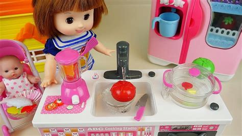 Baby Doll Kitchen Toys Cooking Soup & Fruit Vegetable J