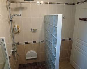 mur en brique de verre salle de bain inspirations avec With salle de bain mur en verre