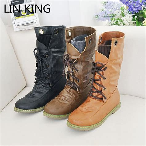 high top motorcycle boots lin king plus size new spring autumn woman cool uniform