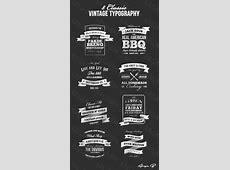 Pembuatan LogoTulisan Vintage Classic Typography