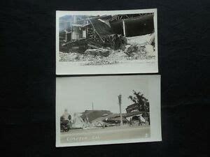 vintage  compton ca california earthquake rppc pair