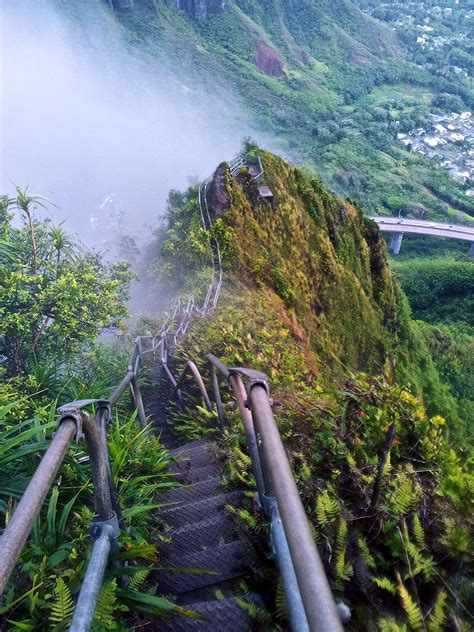 Happy But Not Unscathed Climbing The Haiku Stairs