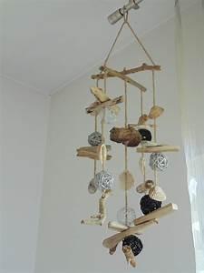 Mobile Bois Flotté : mobile suspension d co en bois flott coquillages et ~ Farleysfitness.com Idées de Décoration
