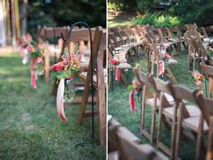 outdoor wedding aisle decor outdoor wedding ceremony with jar aisle decor onewed