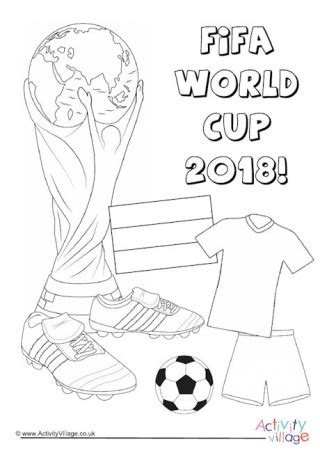 Womens World Cup Trophy Colouring Page