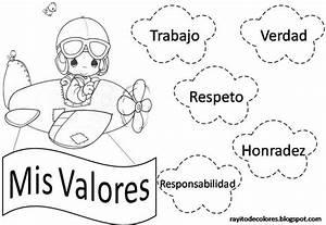 Imagenes de valores morales para colorear - Imagui