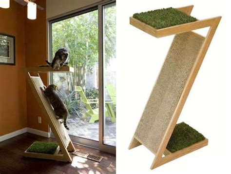 Interesting And Modern Cat Trees Design For Your Lovable