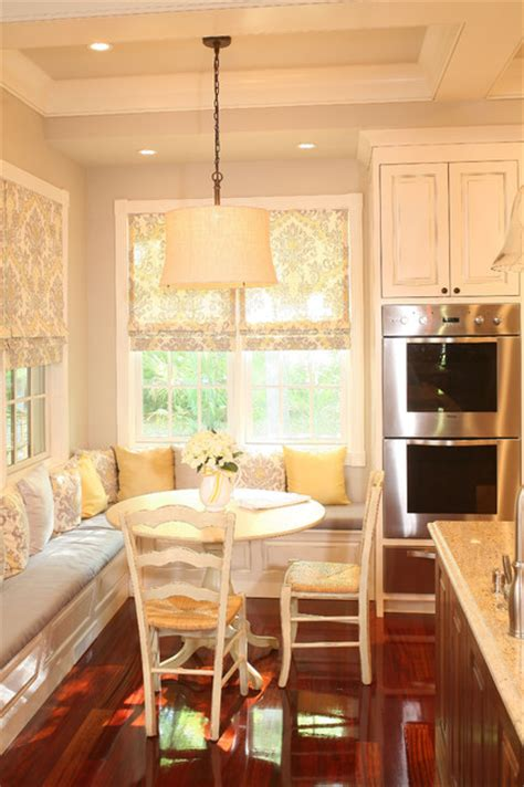 kitchen banquet built  seating  table traditional kitchen charleston  sea
