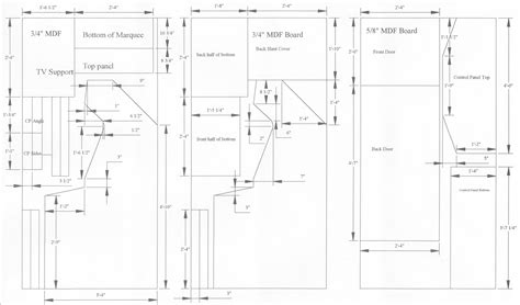 woodworking cabinet plans arcade