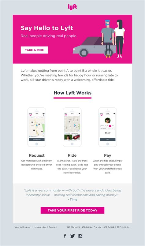 lyft  email html email gallery