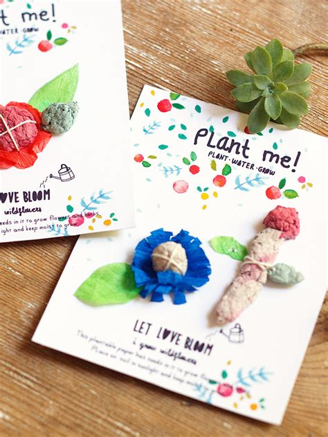 diy plantable seed paper cards handmade charlotte