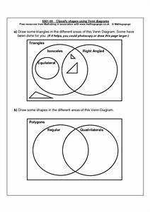Classifying Shapes Using Venn Diagrams Graphic Organizer