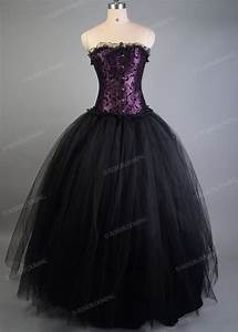 Hair Length Chart Purple Black Gothic Long Prom Dress D1031 D Roseblooming