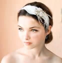 flapper headbands 1920s feather headpiece bridal hairband vintage wedding