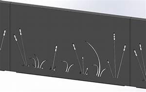 Panneau Brise Vue Aluminium : brise vue aluminium roseaux ral 7016 sg concept ~ Melissatoandfro.com Idées de Décoration