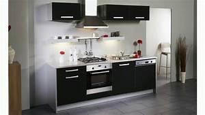 Meuble Cuisine Noir : meuble de cuisine noir youtube ~ Melissatoandfro.com Idées de Décoration