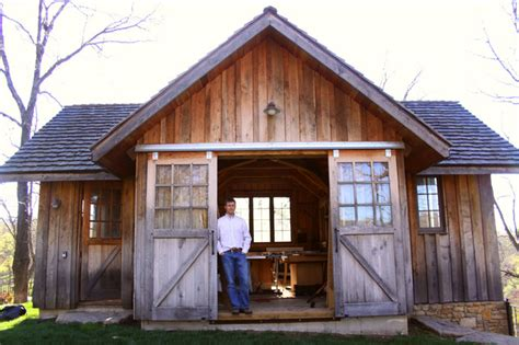 Small Backyard Workshops by Woodwork Woodshop Building Designs Pdf Plans