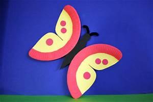 Schmetterlinge Aus Tonpapier Basteln : schmetterlinge aus papptellern basteln kinderspiele ~ Orissabook.com Haus und Dekorationen
